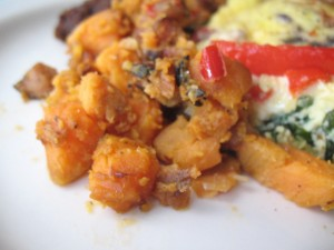 Sweet Potato Apple Sausage Hash